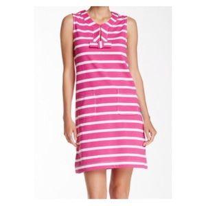 KATE SPADE Pink & White Striped Tropez Dress NWT